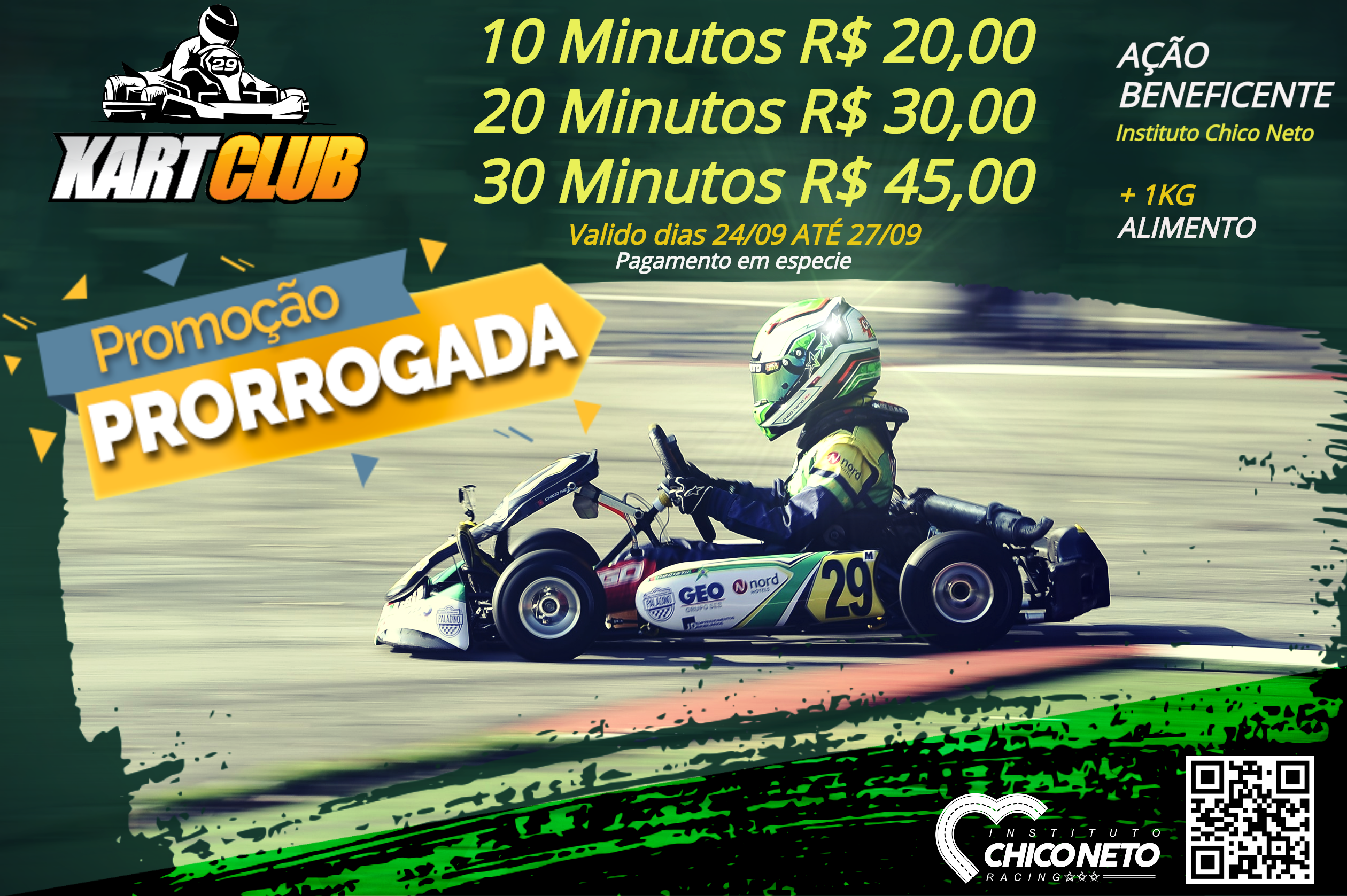 AÇÃO BENEFICENTE NO KART CLUB INDOOR